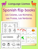 Spanish colors, numbers, fruit, vegetables - fun flipbooks