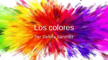 Spanish colors presentation