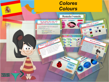 Spanish colors, colores PPT for beginners