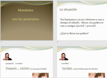 Spanish commands mandatos with chores whiteboards