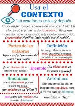 Spanish context clues / pistas de contexto