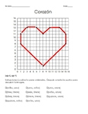 Spanish coordinate planes/ plano cartesiano 1-16