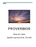 Spanish copywork from Proverbs