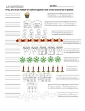 Spanish counting and Labeling Christmas Activity