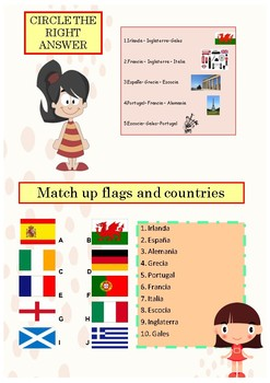 Spanish countries and nationalities booklet for beginners