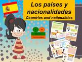 Spanish countries and nationalities, paises y nacionalidad