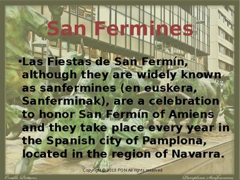 Spanish cultural unit: Los San Fermines/ The running of the bulls