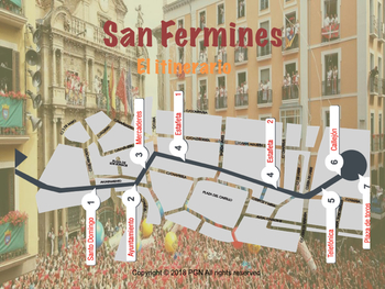 Spanish cultural activities: Los San Fermines (in Spanish)