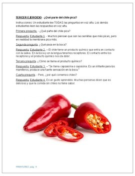 Spanish culture - Chile peppers - a spicy classroom activity