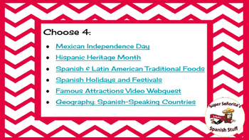 Spanish Culture: Custom Webquest Bundle