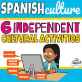 Spanish culture: distance learning webquest bundle