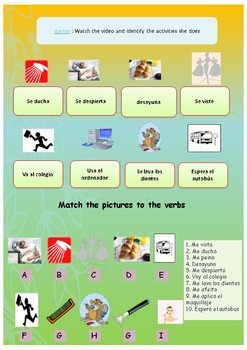 Spanish daily routine, mi rutina booklet for beginnners