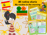 Spanish daily routine, mi rutina full lesson for beginners