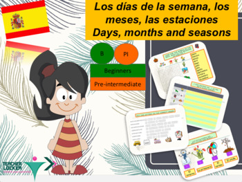 Spanish días, meses, estaciones full lesson for beginners