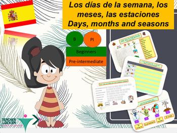 Spanish days, months and seasons días, meses, estaciones P