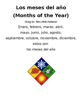 Spanish days and months songs