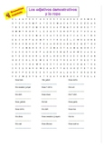 Spanish demonstrative adjectives and clothing word search