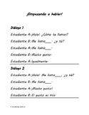 Spanish dialogs for practice