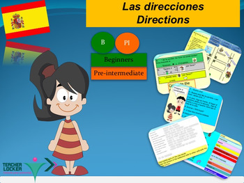 Spanish direcciones directions PPT for beginners