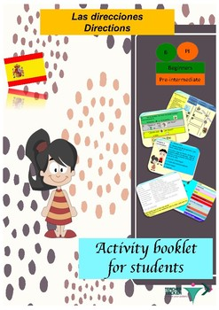 Spanish directions, direcciones booklet for beginners