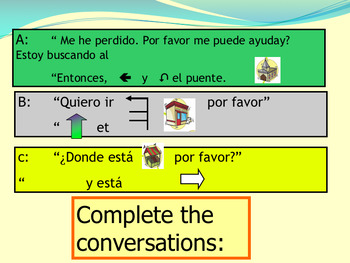 Spanish directions in town, las direcciones full lesson for beginners