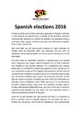 Spanish elections 2016