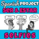 Ser vs. Estar selfie project in Spanish (Distance Learning)