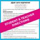 Spanish: Emotions comic / selfie project (ser vs. estar)