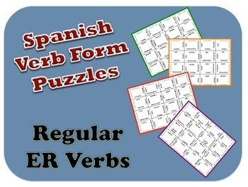 "Spanish ""er"" Verb Puzzle Activity"