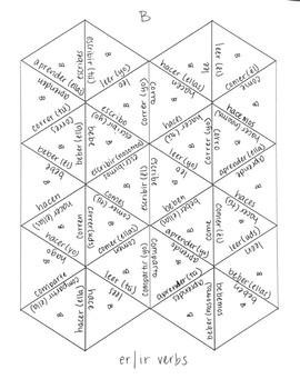 Spanish -er & -ir Verb Puzzles