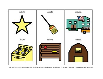 """Spanish """"es"""" Initial Syllable Articulation Cards"""