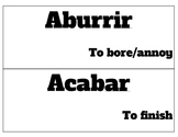 Spanish essential verbs word wall