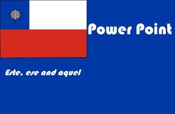 Spanish este ese aquel power point presentation