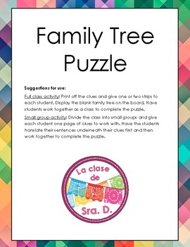 Spanish family tree puzzle