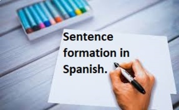 Spanish first year Sentence formation lesson and practice.  Realidades 1