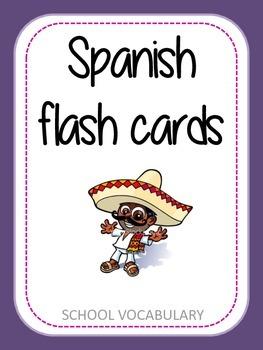 Spanish flash cards