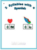 Spanish Phonics 2 syllable a words