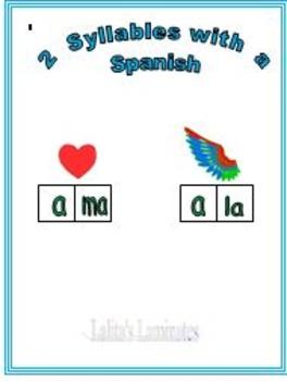 Spanish Phonics 2 syllable a words