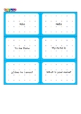Spanish flashcards. Greetings Numbers 1-5, letters A-D
