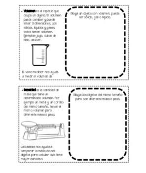 Ciencias: Materia.  Lap-folder