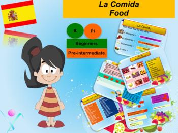 Spanish food, la comida PPT for beginners
