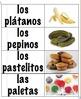 Spanish food vocabulary memory game