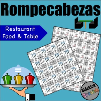 Spanish food vocabulary puzzles