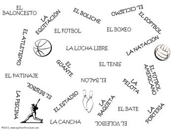 Spanish for Beginners / Los Deportes - Sports Vocabulary and Games Unit