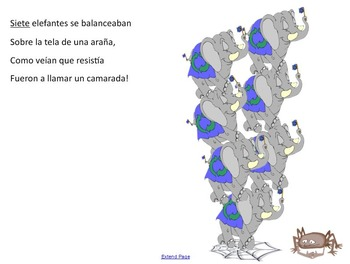 Spanish for Kids: Los Elefantes Song / SmartBoard file