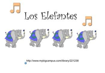 Spanish for Kids: Los Elefantes Song / SmartBoard file