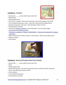 Spanish for Little Learners: Pre School Materials, Activities, and Lesson Plans