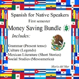 Spanish for Native Speakers 1 (first semester) Syllabus included