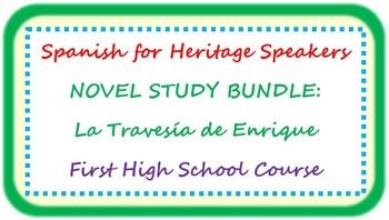 Spanish for heritage speakers - La Travesía de Enrique BUNDLE
