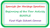 Spanish for heritage speakers - beginning of the year BUND